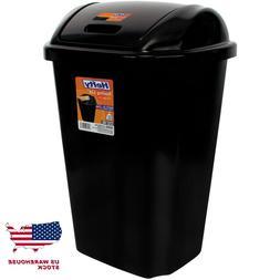 Hefty Swing-Lid 13.5 Gal Trash Can, Multiple Colors