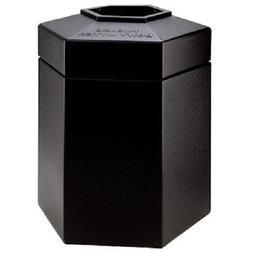 45 Gallon Hex Waste Container - Color: Black