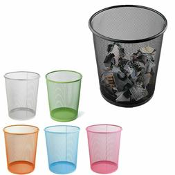 High Quality Colourful Trash Can Metal Mesh Waste Paper Bask