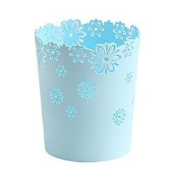Hollow Flower Shape Plastic Lidless Wastepaper Baskets Trash