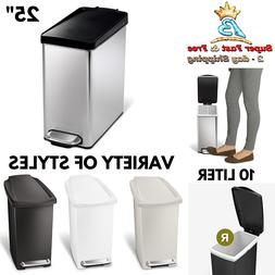 Home Step On Lid Trash Can Kitchen Bathroom Garbage Waste Li