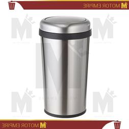 Home Zone Stainless Steel Kitchen Trash Can with Round Desig