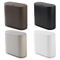 Household Press-type Flip Cover Trash Can Oval Waste Bins Of