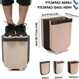 TOPHOMEPARTS Household Wall Mounted Folding Waste Bin Kitchen Hanging Trash Cans