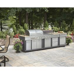 HUGE OUTDOOR KITCHEN BBQ GRILL - SINK - REFRIGERATOR - ICE B