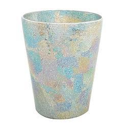 India Ink Aurora Cracked Glass Wastebasket in Pastel