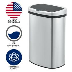 Innovaze 50L/13 Gal Stainless Touchless  Automatic Sensor Tr