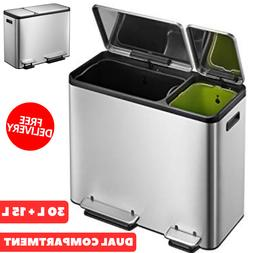 Intelligent Dual Compartment Stainless Steel Recycle Step Tr
