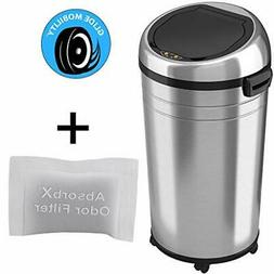 iTouchless Glide 23 Gallon Sensor Trash Can with Wheels and