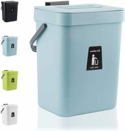 KaryHome Hanging Small Trash Can with Lid Under Sink for Kit