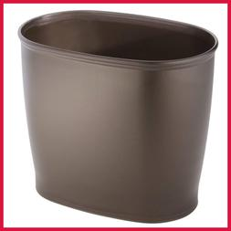 Kent Plastic Oval Wastebasket Trash Can For Bathroom Kitchen