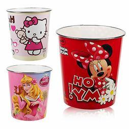 Kids Disney & Hello Kitty Waste Rubbish Bin Plastic Trash Ca