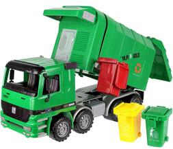Kids Large Garbage Truck Toy Recycle Vehicle With Trash Can