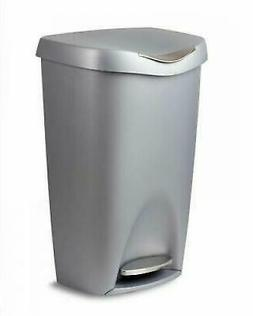 kitchen trash can garbage large silver stainless