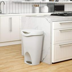 Kitchen Trash Can Garbage Large White with Foot Pedal 13 Gal