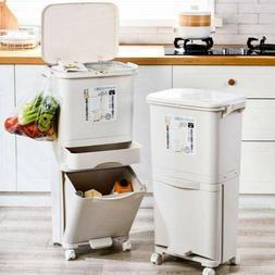 Kitchen Trash Can Stacked Sorting Trash Bin Recycling Bin Ho