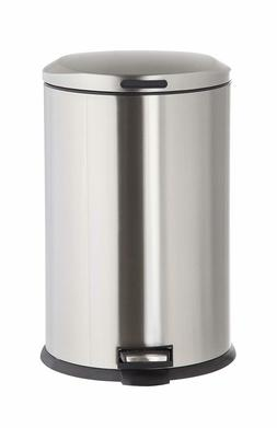 Kitchen Trash Can with Lid 13 Gallon Stainless Steel Pedal D