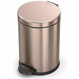 Simplehuman Kitchen Trash Cans Rose Gold Steel, 4.5L / 1.19