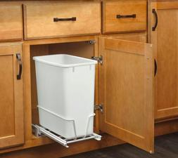 Kitchen Under Sink Cabinet Trash Waste Garbage Can Slide Out