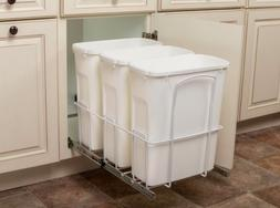 Kitchen Under Sink In Cabinet Trash Waste Garbage Can Pull O