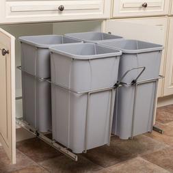 KV SCB24-4-27PT Trash Can with 4 Bins Soft Close 19H x 22-1/