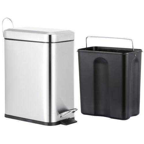 1.3 Gallon Bin Can Bathroom Bedroom Kitchen