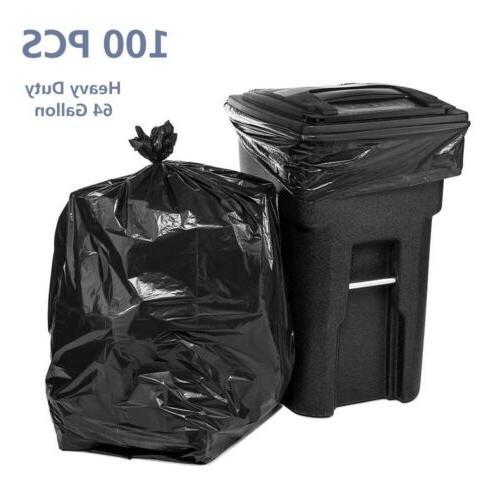 100 pcs trash bags 64 gallon heave