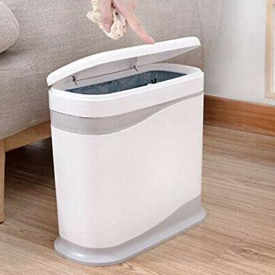 10x(dual 12 liter bathroom trash can with lid