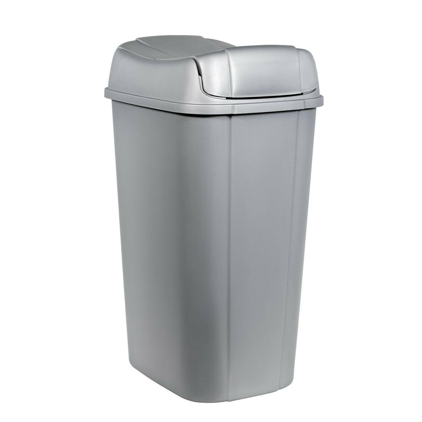 13.3-gallon Hefty Lid Trash Can, Decorative