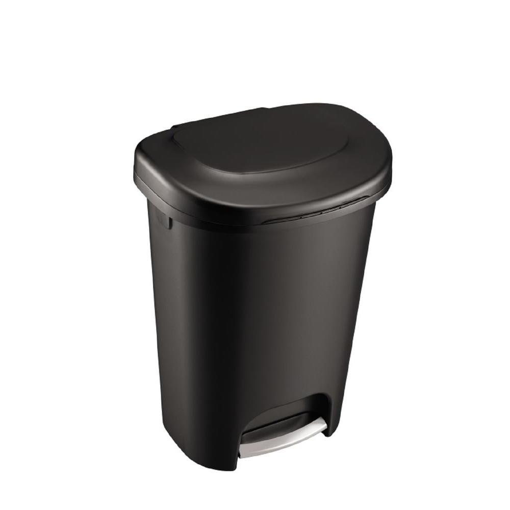 Rubbermaid 13 Hands-Free Trash with Stainless