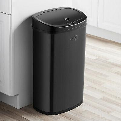 Motion Sensor Trash Can 13 Gallon Touchless Automatic Black