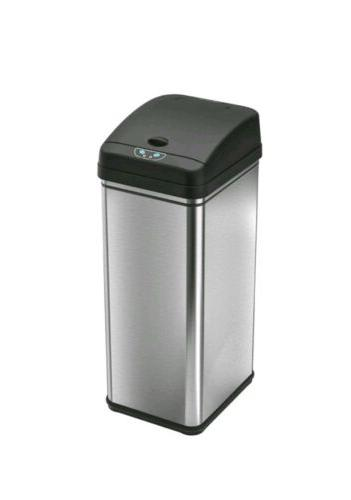 13 gallon stainless steel automatic trash can