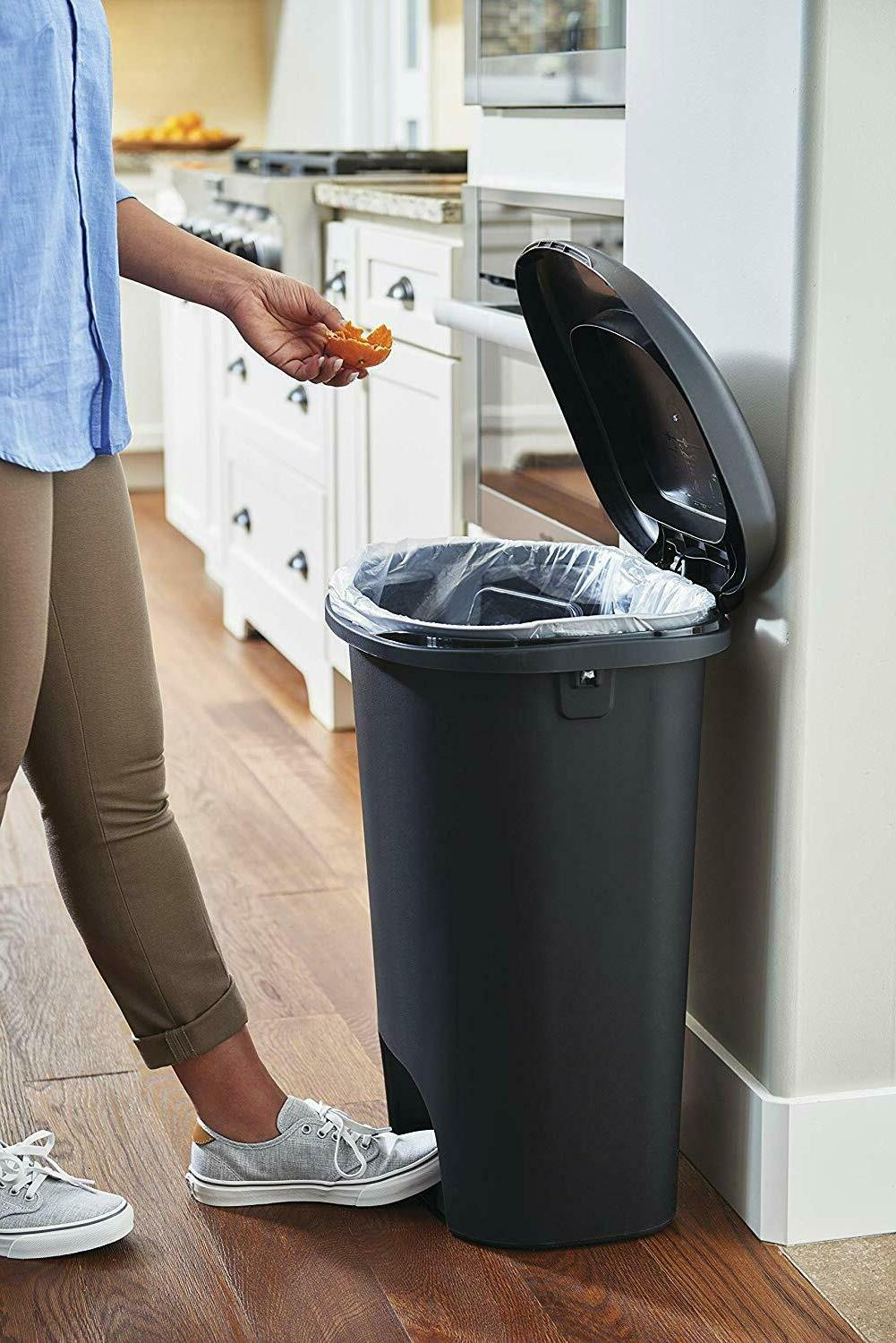 Step On Lid Trash Can for Home Kitchen and Bathroom Garbage