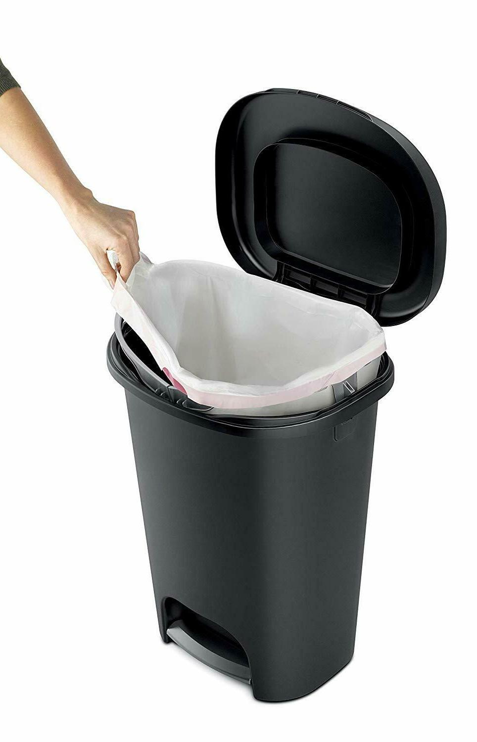 Rubbermaid Step-On Trash Can Home, and Bathroom Garbage