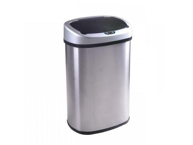 13-Gallon Sensor Stainless-Steel Trash Can 50R