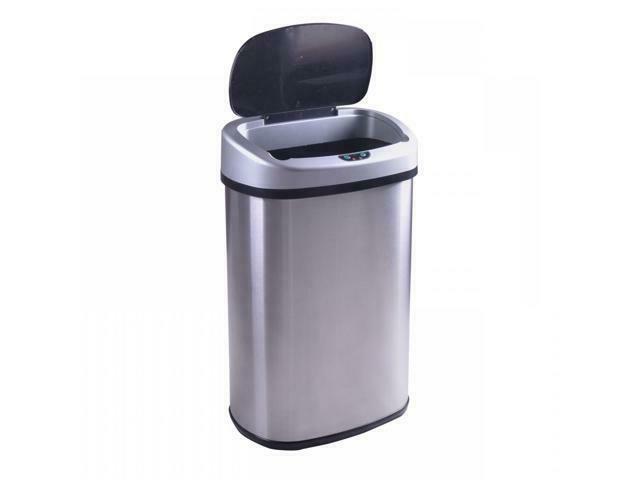 13-Gallon Sensor Stainless-Steel Trash