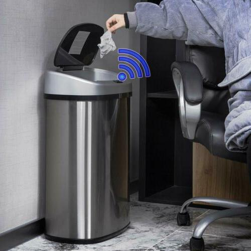 13-Gallon Stainless-Steel Trash Kitchen 50R New