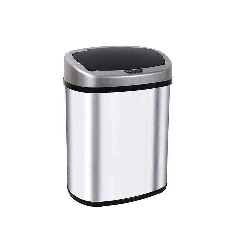 13-Gallon Touch Free Sensor Automatic Touchless Trash Can Ki