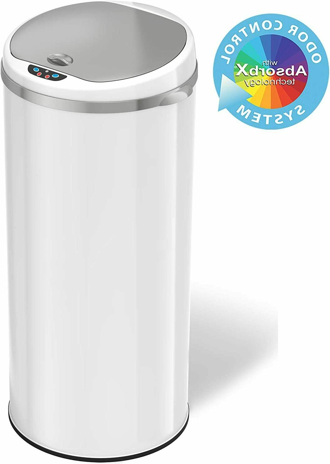 13 Gallon Touchless Sensor Trash Can with Odor Filter System
