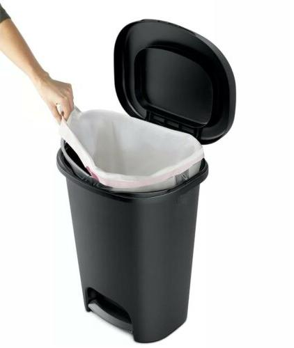 13 gallon trash bin with lid wastebasket