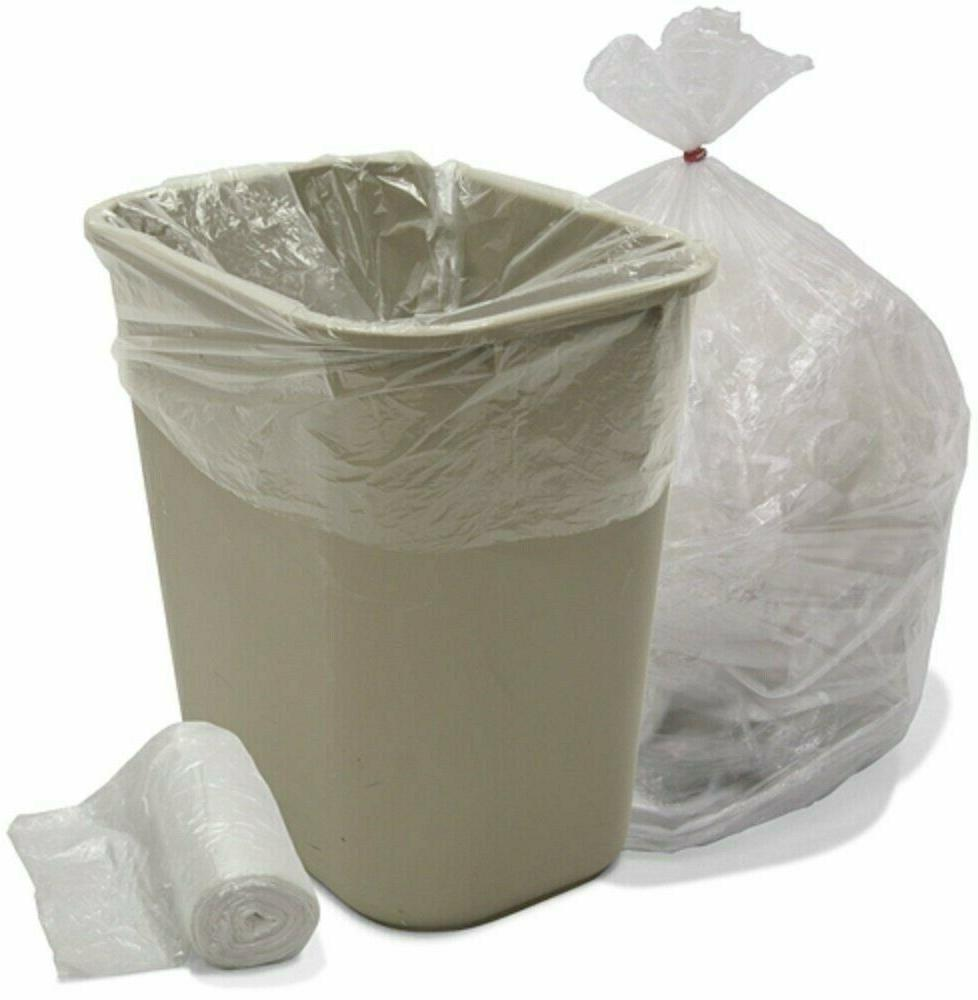 "Ox Plastics Trash Can Liner, Density 24""x33"" Clear"