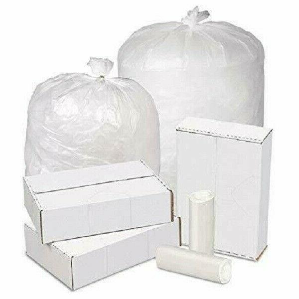 "Ox Gallon Trash Can Liner, High Density 24""x33"" Easy Use Clear Rolls"