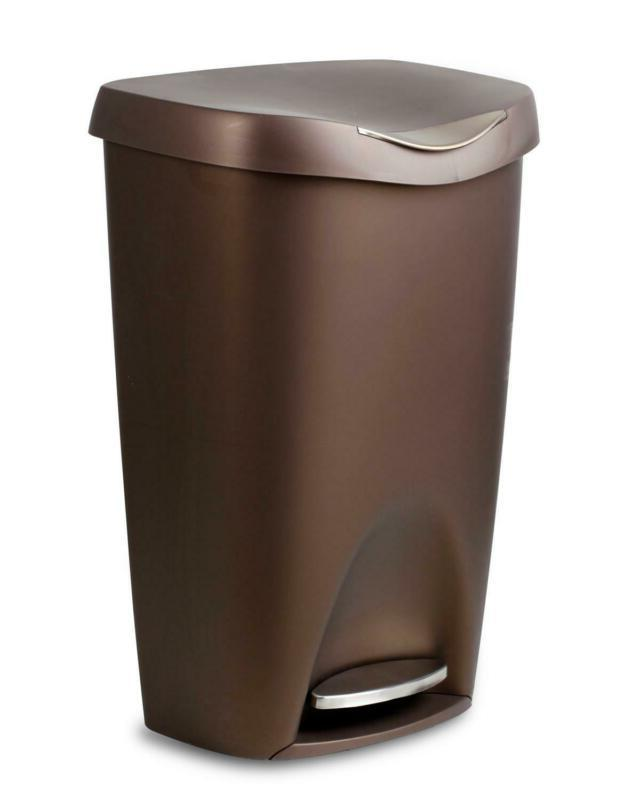 Bronze Kitchen Decor Umbra Brim Trash Can with Soft-Close Li