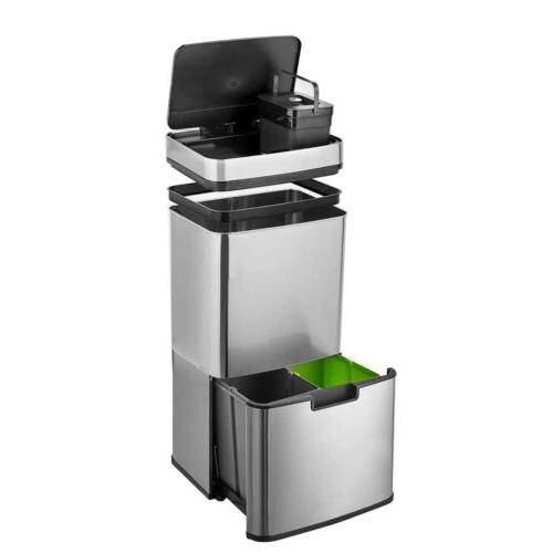 16.3 Rubbish Capacity Pro Sensor Trash Can Kitchen SL