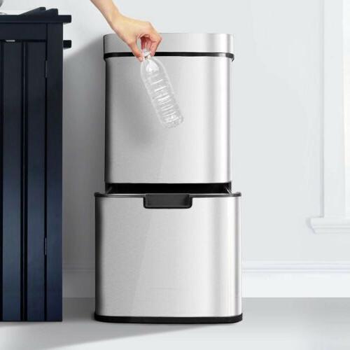 16.3 Gallon Rubbish Capacity Pro Sensor Can Kitchen Waste SL