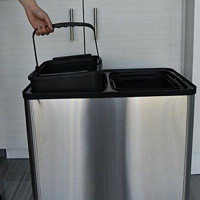 iTouchless Trash Can Bin Stainless Steel