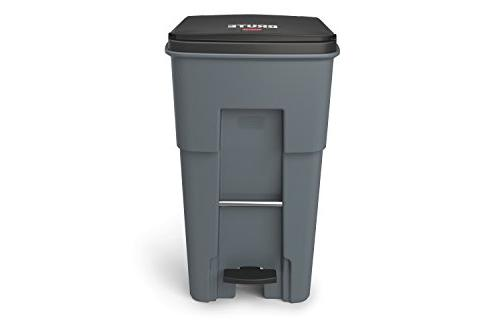 """Step-On Rollout Trash 65 gal/246 L, Height, 25.330"""" Width,"""