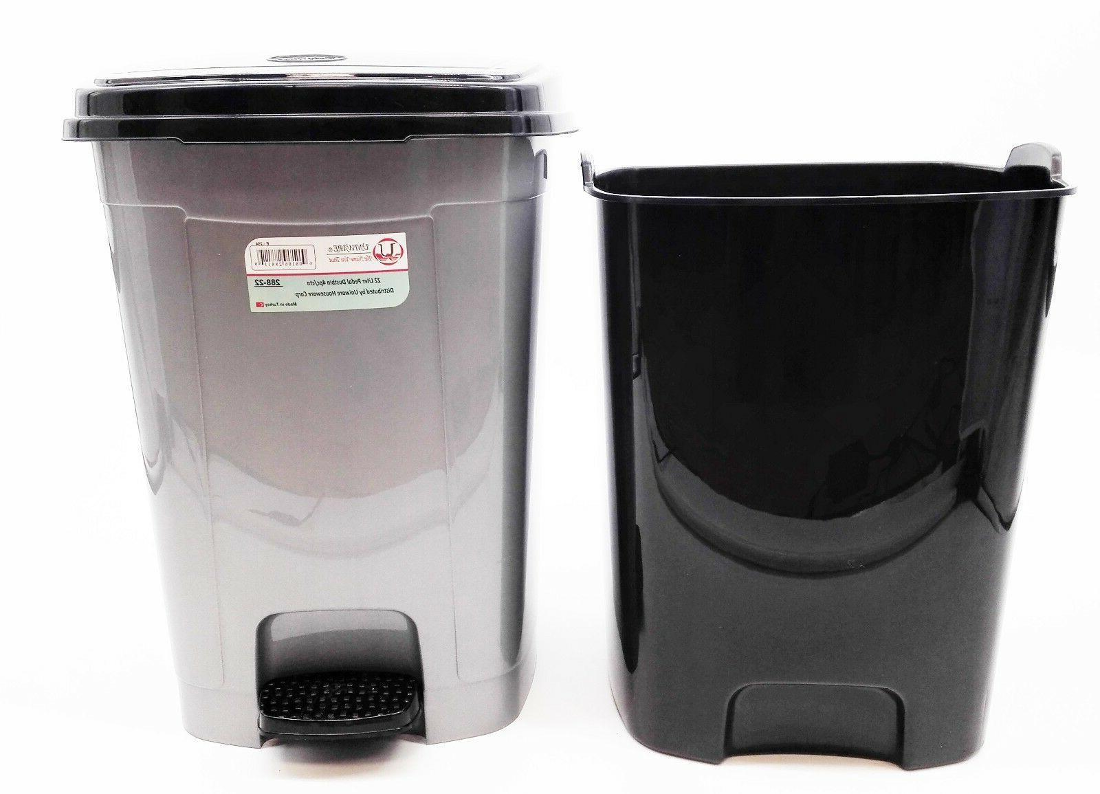288 Uniware Pedal Can for Room,22/12/6 Liter