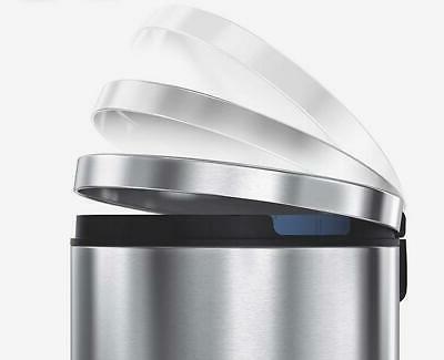 30 Liter kitchen Office / Bin Stainless Step on Trash