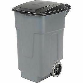 Carlisle 34505023 Polyethylene Rolling Container, 50 Gallon